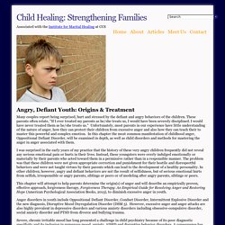 Child Healing: The Angry Child