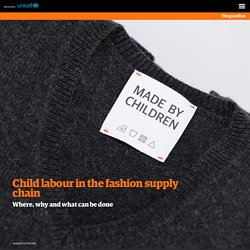 Child labour in the fashion supply chain