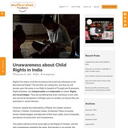 Rights of children in India