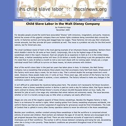 Slave Labor in the Walt Disney Company