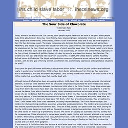 IHS Child Slave Labor News :: The Sour Side of Chocolate