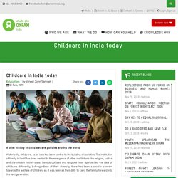 Childcare in India today