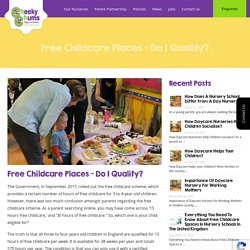 Free Childcare Places - Do I Qualify? - Cheekly Chums