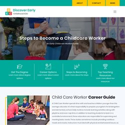 Childcare Worker - Requirements, Careers, Salary and Job Duties