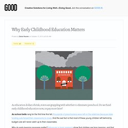 Why Early Childhood Education Matters - Education