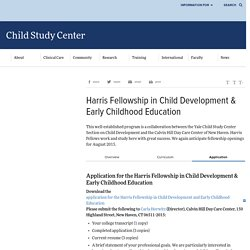 Early Childhood Education Program > Child Study Center