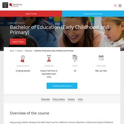 Bachelor of Early Childhood Education Degree Online