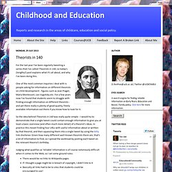 Childhood and Education: Theorists in 140