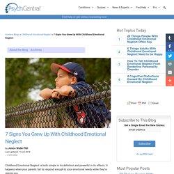 Website: Childhood Neglect Symptoms