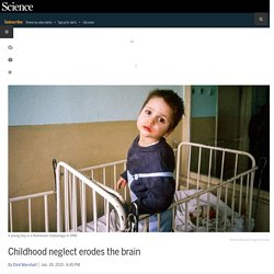 Childhood neglect erodes the brain