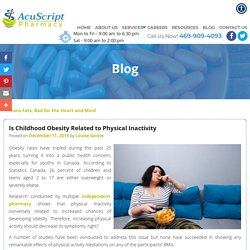 Is Childhood Obesity Related to Physical Inactivity