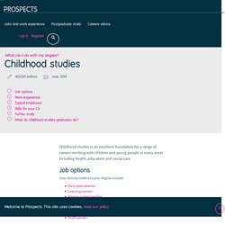 What can I do with a childhood studies degree?