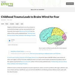 Childhood Trauma Leads to Brains Wired for Fear