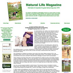 Childhood Vaccines - Natural Life Magazine - green family living