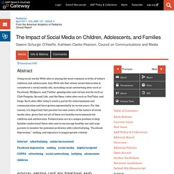 The Impact of Social Media on Children, Adolescents, and Families