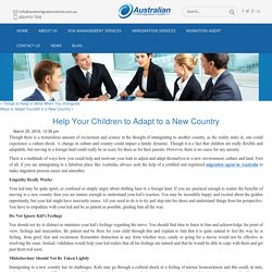 Help Your Children to Adapt to a New Country