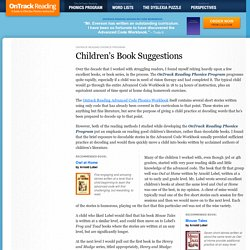 Children's Book Suggestions