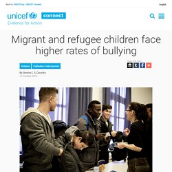 Migrant and refugee children face higher rates of bullying - Evidence for Action