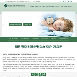 Sleep Apnea in Children Cary North Carolina by Dr. Charles Ferzli