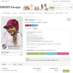 """Miss Spring / DROPS Children 24-16 - Casquette DROPS au crochet, en """"Nepal"""". - Modèle gratuit de DROPS Design"""