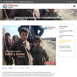 Uphold the Rights of Children in Syria