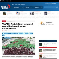 WATCH: Thai children set world record for largest human Christmas tree