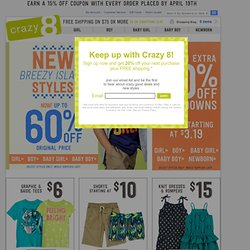 Children's Clothing: Kids' Clothing, Baby Apparel, Toddler Clothing & Children's Clothes at Crazy 8