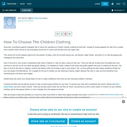 How To Choose The Children Clothing