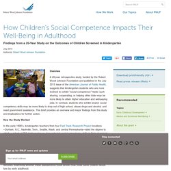 How Children's Social Competence Impacts Their Well-Being in Adulthood