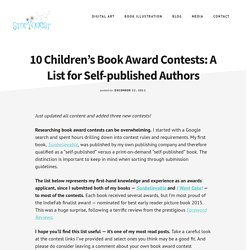 10 Children's Book Award Contests: A List for Self-published Authors - Story Quest