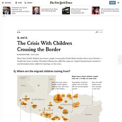 The Crisis With Children Crossing the Border