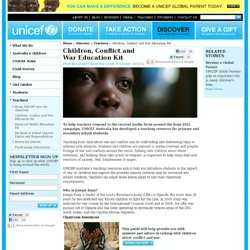 Children's charity education: teachers for children in need | UNICEF Australia