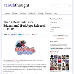 The 12 Best Children's Educational iPad Apps Released In 2012