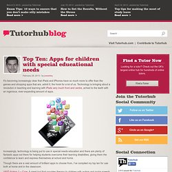 Top Ten: Apps for children with special educational needs