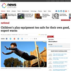 Children's play equipment too safe for their own good, expert warns