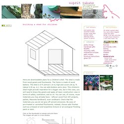 Playhouse/Shed Plans & Instructions
