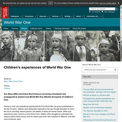 Children's experiences of World War One