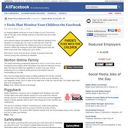 7 Tools That Monitor Your Children On Facebook - Flock