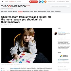 Why You Shouldn't Do Your Child's Homework