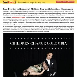 Gala Evening in Support of Children Change Colombia at Hippodrome - justpaste.it
