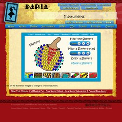 Daria - World Music for Children - Instruments: Shekere