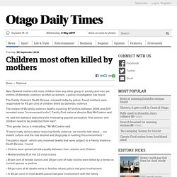 Children most often killed by mothers