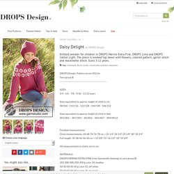 Daisy Delight / DROPS Children 34-7 - Free knitting patterns by DROPS Design