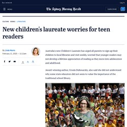 New children's laureate worries for teen readers