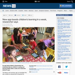 New app boosts children's learning in a week, researcher says