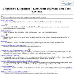 Children's Literature - Electronic Journals and Book Reviews