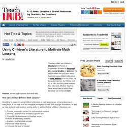 Using Children's Literature to Motivate Math Lessons