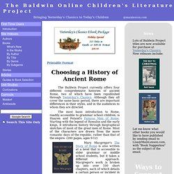 The Baldwin Online Children's Literature Project...Bringing Yest