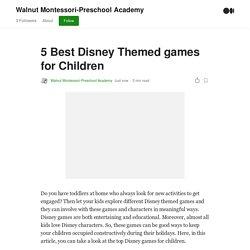 by Walnut Montessori-Preschool Academy