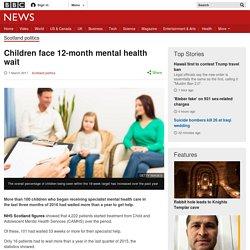 Children face 12-month mental health wait
